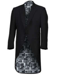 Ben Sherman Black Tailcoat Suit