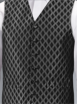 Black Evening Patterned Waistcoat