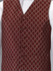 Red Evening Patterned Waistcoat