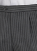 Black Jeff Banks Stripe Trousers