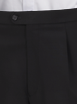 Black Mohair Plain Trousers