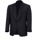 Black Single Breasted Shawl Coll Dinner Jacket