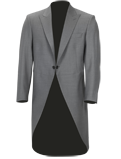 Grey Slim Fit Tailcoat Jacket