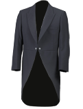 Slate Grey Herringbone Tailcoat Suit