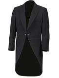 Black Herringbone Tailcoat Suit
