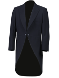 Navy Herringbone Tailcoat Suit