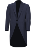 Blue Slim Fit Tailcoat