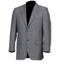 Mid Grey Short Oxford Jacket Suit