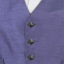 Grape Dupion Dark Button Waistcoat
