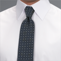 Navy Patterned Tie