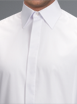 White Standard Collar Shirt