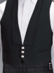 Black Prince Charlie 3 Silver Button Waistcoat