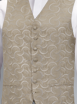 Coffee Embroidered Waistcoat