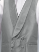 Silver Neat Double Breasted Waistcoat