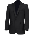 Black Single Breasted 1 Button Dinner Jacket