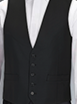 Ben Sherman Black High Button Waistcoat